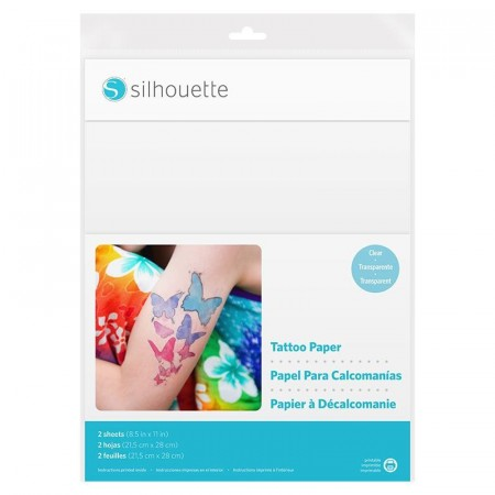 Silhouette Temporary Tattoo paper - Clear